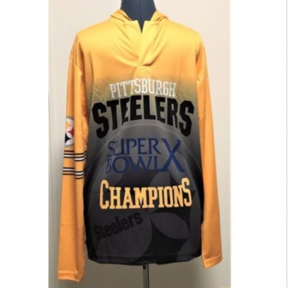 dd9d4984e Pittsburgh Steelers Superbowl 76 Jersey Hooded MED